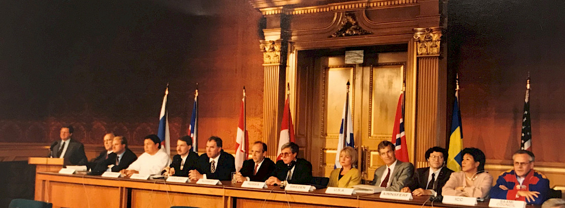 The signing of the Ottawa Declaration, establishing the Council in 1996.